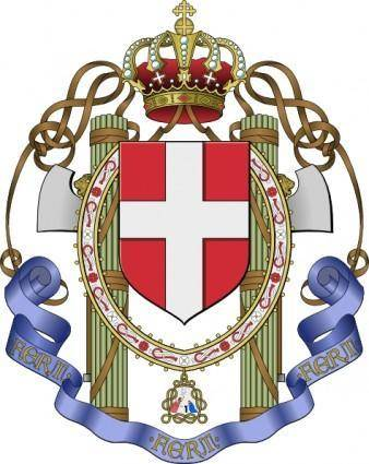 free vector Coat Of Arms Of Italy clip art