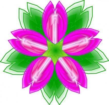 free vector Five Petalled Flower clip art