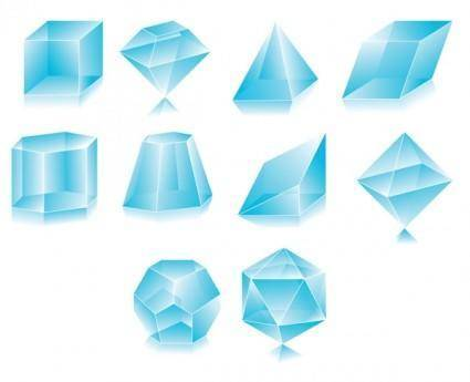 Transparent diamond vector