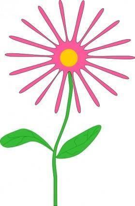 free vector Jenni Whimsical Pink Flower clip art