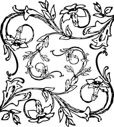 Floral Decoration clip art