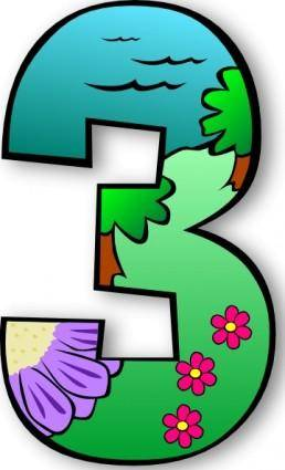 Creation Days Numbers clip art