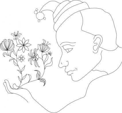 Andre Saetherskar Flowers clip art