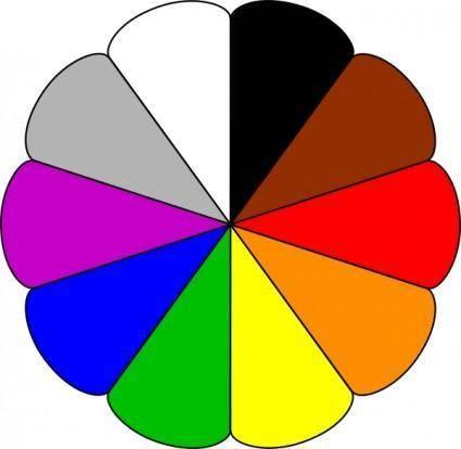 Flower Colors clip art
