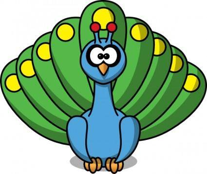 free vector Cartoon Peacock clip art