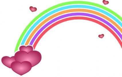 free vector Valentine Rainbow clip art