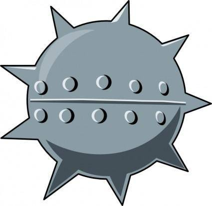 Cartoon Sea Mine clip art