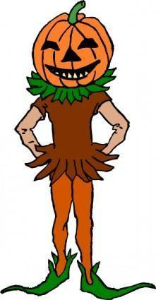 free vector Pumpkin Boy Color Version clip art