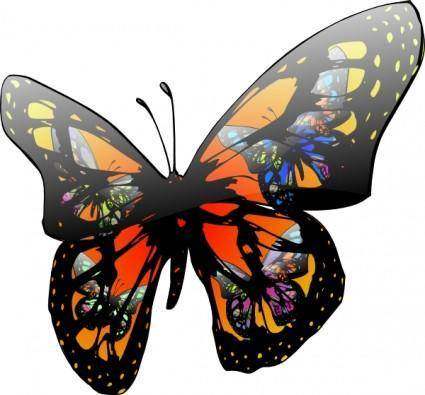 Butterfly With Lighting Effect clip art