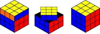 free vector Rubik Cube Solving clip art