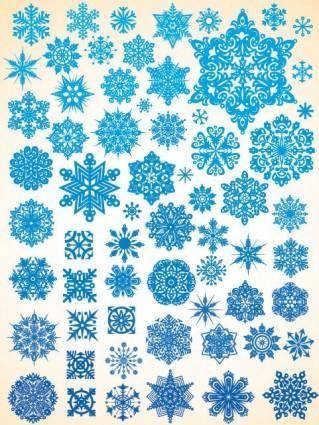free vector Variety of snowflakes vector 1