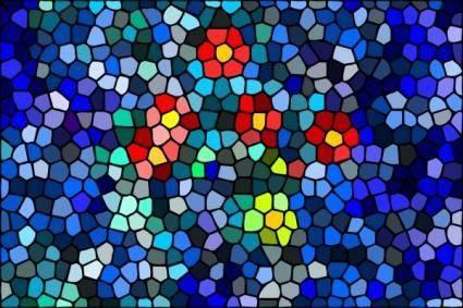 free vector Blossoms Surfacing Water Mosaic clip art