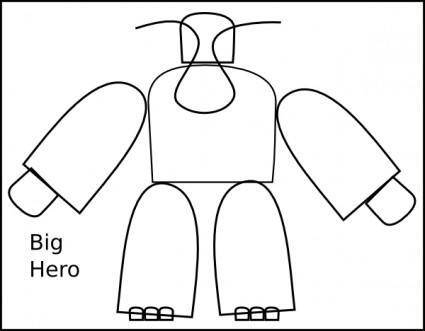 Big Transformer Hero clip art