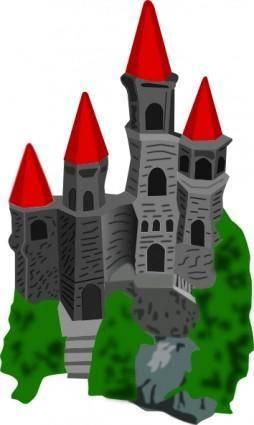 free vector Castle Color clip art