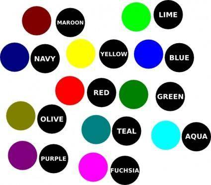 Scattered Color Dot clip art