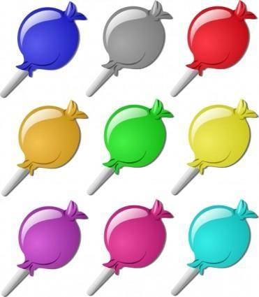 Lollipops clip art