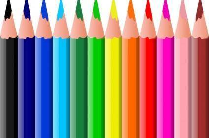 free vector Valessiobrito Coloured Pencils clip art