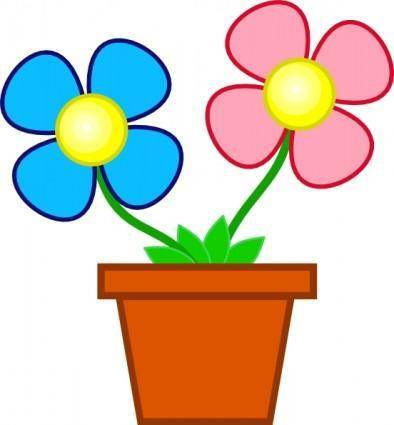 free vector Flowers In A Vase clip art