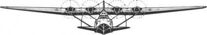 free vector Martin Flying Boat clip art