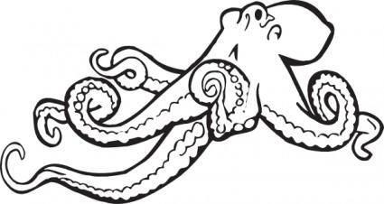 free vector Coloring Book Octopus clip art