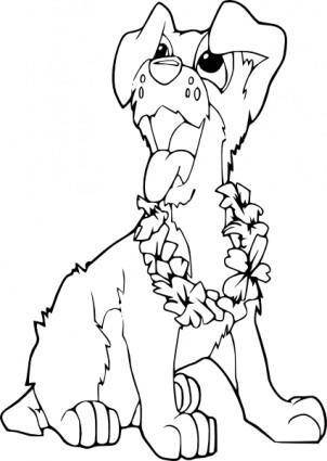 Coloring Book Dog Ilio clip art