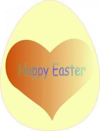free vector Happy Easter Heart clip art