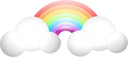 free vector Cloud Rainbow clip art