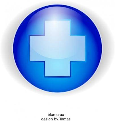 Blue Cross clip art