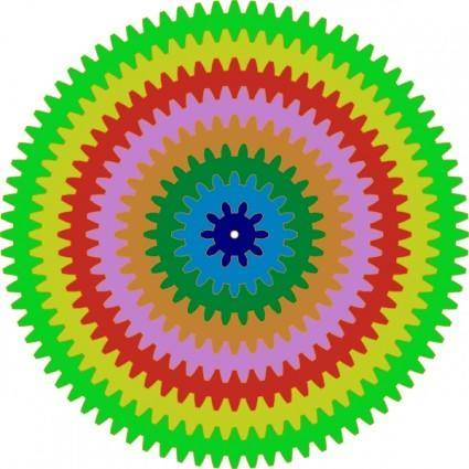 free vector Colorful Gears clip art