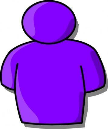 Purple Avatar clip art