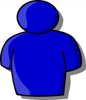 free vector Blue Avatar clip art