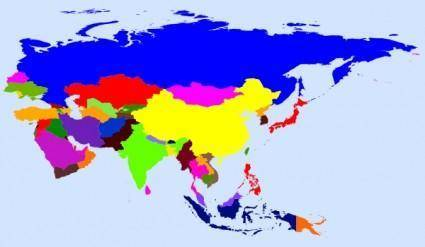 World Map Colored clip art