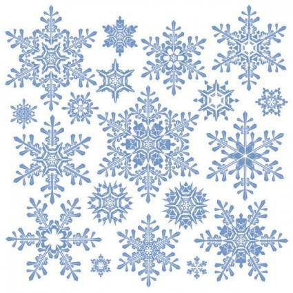 free vector Variety of snowflakes vector 2
