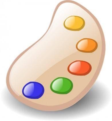 Painter Color Palette clip art