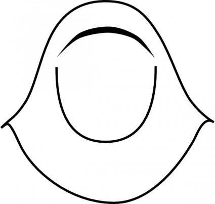 free vector Islamic Women Clothing Hijab clip art