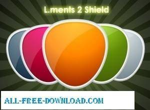 free vector L ments  Pack 2 Shields