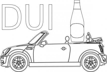 free vector Dui Driving Under Infleunce Outline clip art