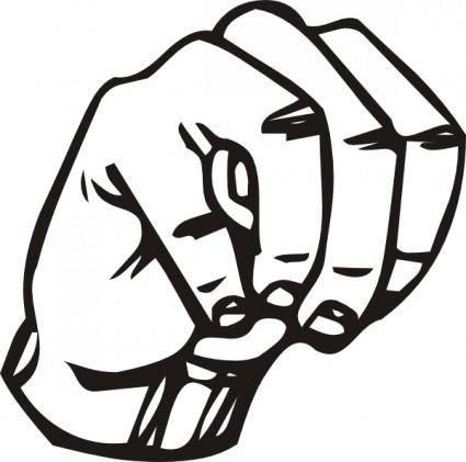 Sign Language M clip art