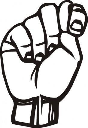 Sign Language T clip art