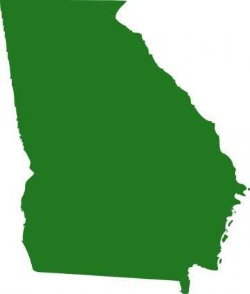 State Of Georgia Map clip art