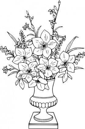 free vector Lily Bouquet clip art