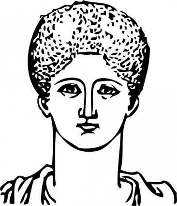 Grecian Hair Dressing clip art