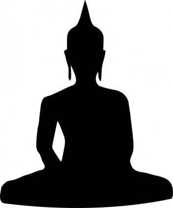 free vector Silhouette Of Buddha Sitting clip art