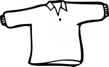 free vector Shirt Outline clip art