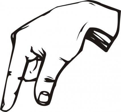 Sign Language Q clip art
