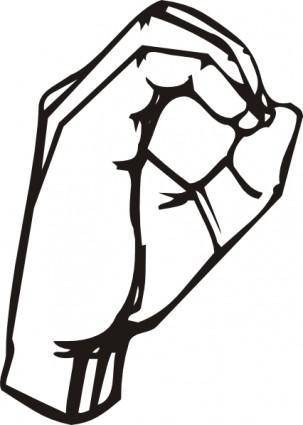 Sign Language O clip art