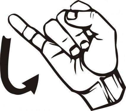 Sign Language J clip art