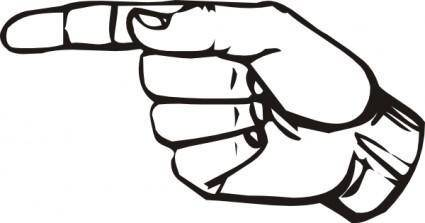 free vector Sign Language G clip art
