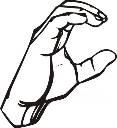 free vector Sign Language C clip art