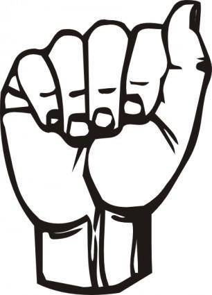 Sign Language A clip art